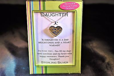 Sterling Silver Necklace And Heart Pendant For Daughter And Magnetic Photo Frame ()