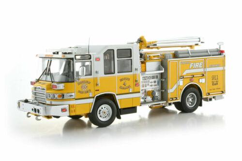 Pierce Quantum Pumper Fire Engine - Honolulu #4 TWH 1:50 Scale #081D-01107 New!