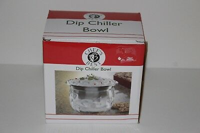 Chief's Best Stainless Steel Dip Chiller Bowl with Acrylic Ice Chamber Bowl Base