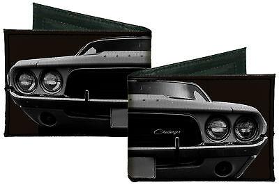 Front Fold Wallet (Dodge Challenger Car Front End Canvas Bi-Fold Wallet Licensed)