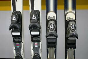 2 Pairs of Skis and Stocks, Rossignol, Cross X2, 150cm, Bindings Nerang Gold Coast West Preview