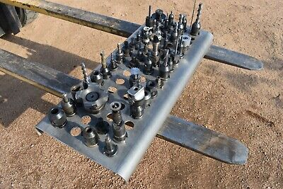 Used Lot Of Holders Nmtb30 With Face Mills Boring Head Collets And More