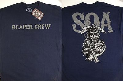 Sons Of Anarchy Soa Reaper Crew Cracked Logo Tv Show T Shirt Nwt