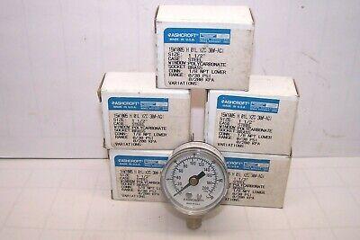 5 New Ashcroft Pressure Gauge 15w1005 H 01l Xzc 30 1 12