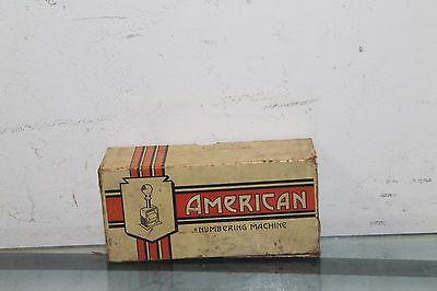 Vintage American Numbering Machine Model 41 With Box And Ink Pad Tin.