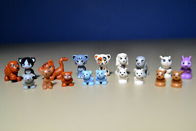NEW LEGO Lot 18 Friends Pets Animal Minifig Dog Puppy Cat Kittens Bunny
