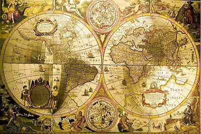 Giant Antique World Map Wall Mural Photo Wallpaper