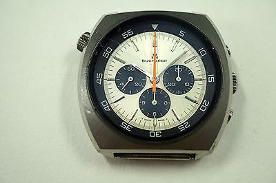 BUCHERER 9653 DIVERS STEEL CHRONOGRAPH C.1970'S ROTATING BEZEL BUY IT NOW!!