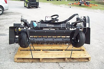 Cat-harley Landscape Power Rakem6h 6 Hydraulic Anglefits All Skid Steers