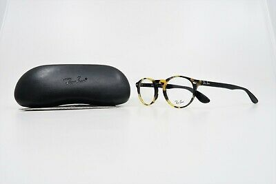 Ray-Ban Unisex Round Yellow Tortoise/Black Glasses w/ Case RB 5283 5606 (Non Prescription Ray Bans)