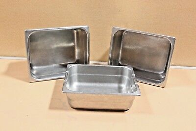 Seco Ware Steam Table Pans Lot Of 3 Nsf Commercial Pans