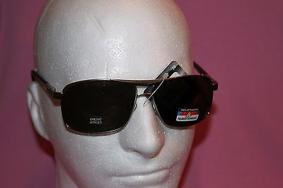 MENS POLARIZED SPRING HINGES FRAMES SUN GLASSES 100% UV PROTECTION ()