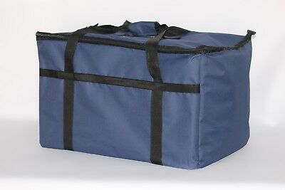 Blue Nylon Insulated Food Delivery Bagpan Carrier 23x13x15