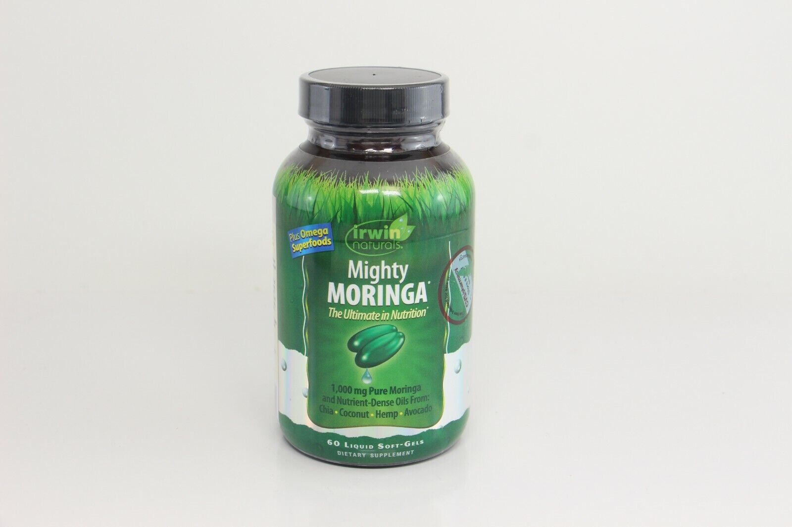 5 x Irwin Naturals Mighty Moringa 1,000 mg 60 Liquid Softgels EXP 3/19+