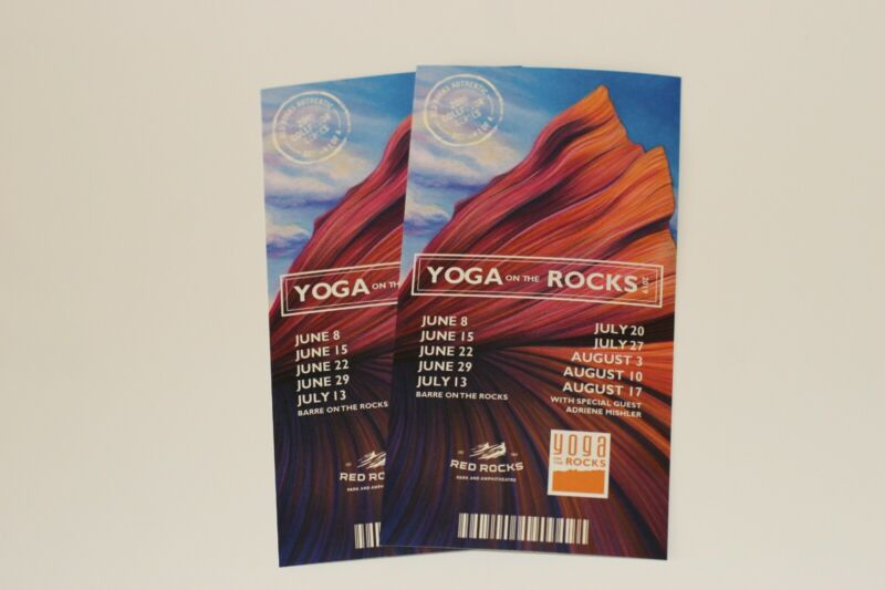 Official 2019 Collector Series Yoga On The Rocks Tickets