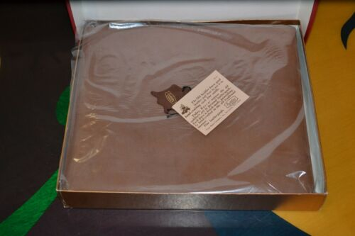 Vintage Bosca Brown Saddler 10X12 Photo Album 3 Ring Binder w/Orig Box 1996 NOS