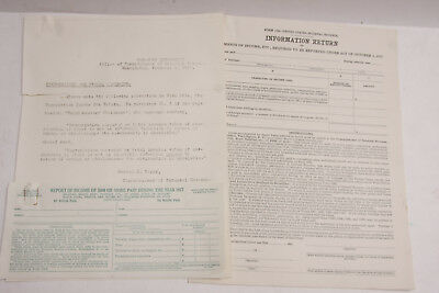 1918 Lamson Goodnow Irs Forms 1099 1096  Fy 1917  Blank    Ephemera L99h