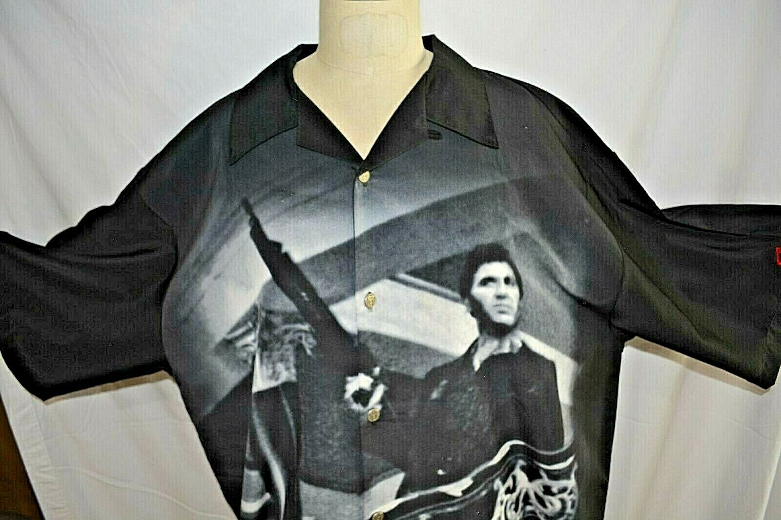 Scarface Shirt Button Down Collared XXXL Dragonfly Clothing Company  - $89.99