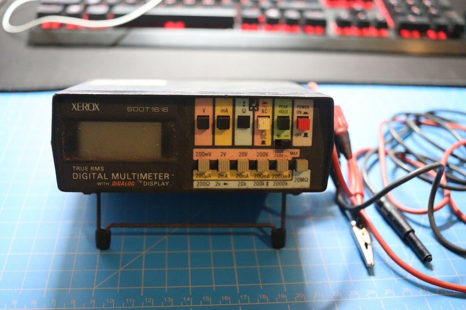XEROX 600T1616 TRUE RMS DIGITAL MULTIMETER - $59.99