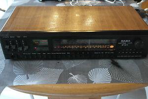 SABA Ultra HiFi 9120 AM/FM Stereo Reciever ca. 1977 Vintage Holz Chassis Radio