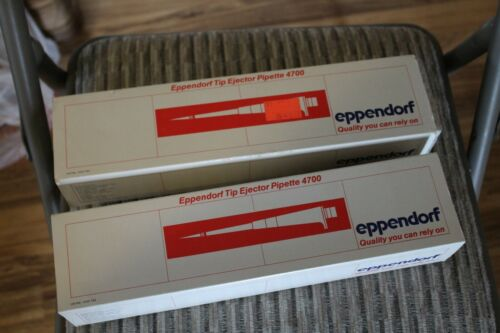 2 lot - Eppendorf 4700 500/750/1000µL & 100/200/250µL pipette Pipettor