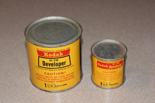 KODAK D-76 DEVELOPER BLACK & WHITE FILM AND PLATES POWDER MAKES 1 GALLON & 1 QT