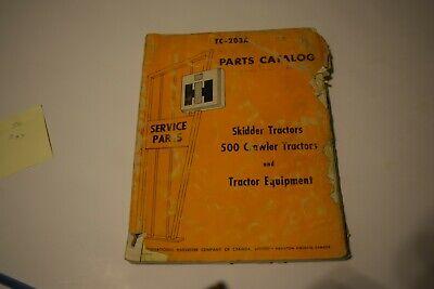 International Harvester Skidder Tractors 500 And Crawler Tractors Parts Catalog