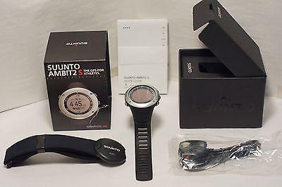 Suunto AMBIT2 Graphite HR SS019208000 GPS Fitness Watch with Heart Rate Monitor Graphite Heart Rate Monitor