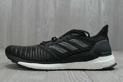 52 New Adidas Solar Boost Mens Running Shoes Size 13  Black Grey White CQ3171