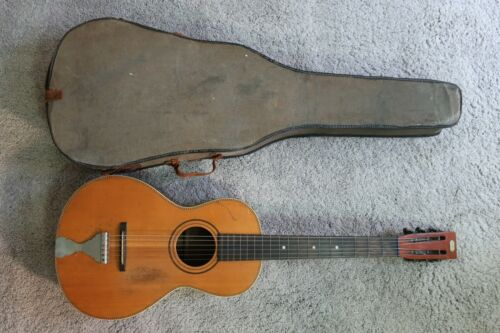 "Antique Vintage 1900s B & J ""Lester"" Parlor Guitar Interesting Shape Finest Wood"