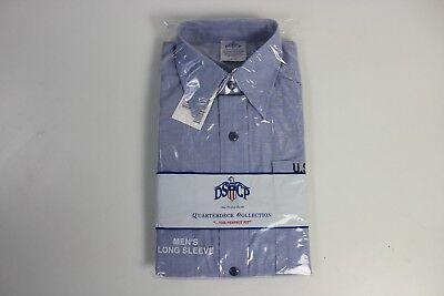 NEW Mens Military GENUINE US Navy Long Sleeve USN Blue Work Utility Shirt Medium