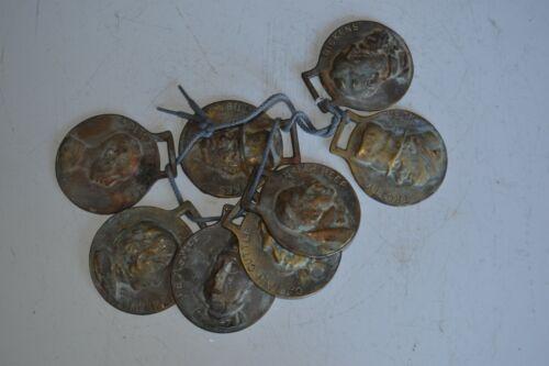 Vintage Cast Brass Horse Medallion Bridle Decoration Lot of 8