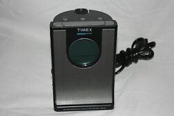 TIMEX T436B INDIGLO PROJECTION ALARM CLOCK MP3 , RADIO , AND NATURE SOUNDS - 7:8