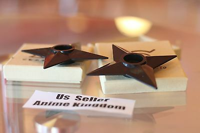 "USA Seller Cosplay Naruto 2 X Ninja Weapons Shuriken 3"" or 7cm in Box Accessory"