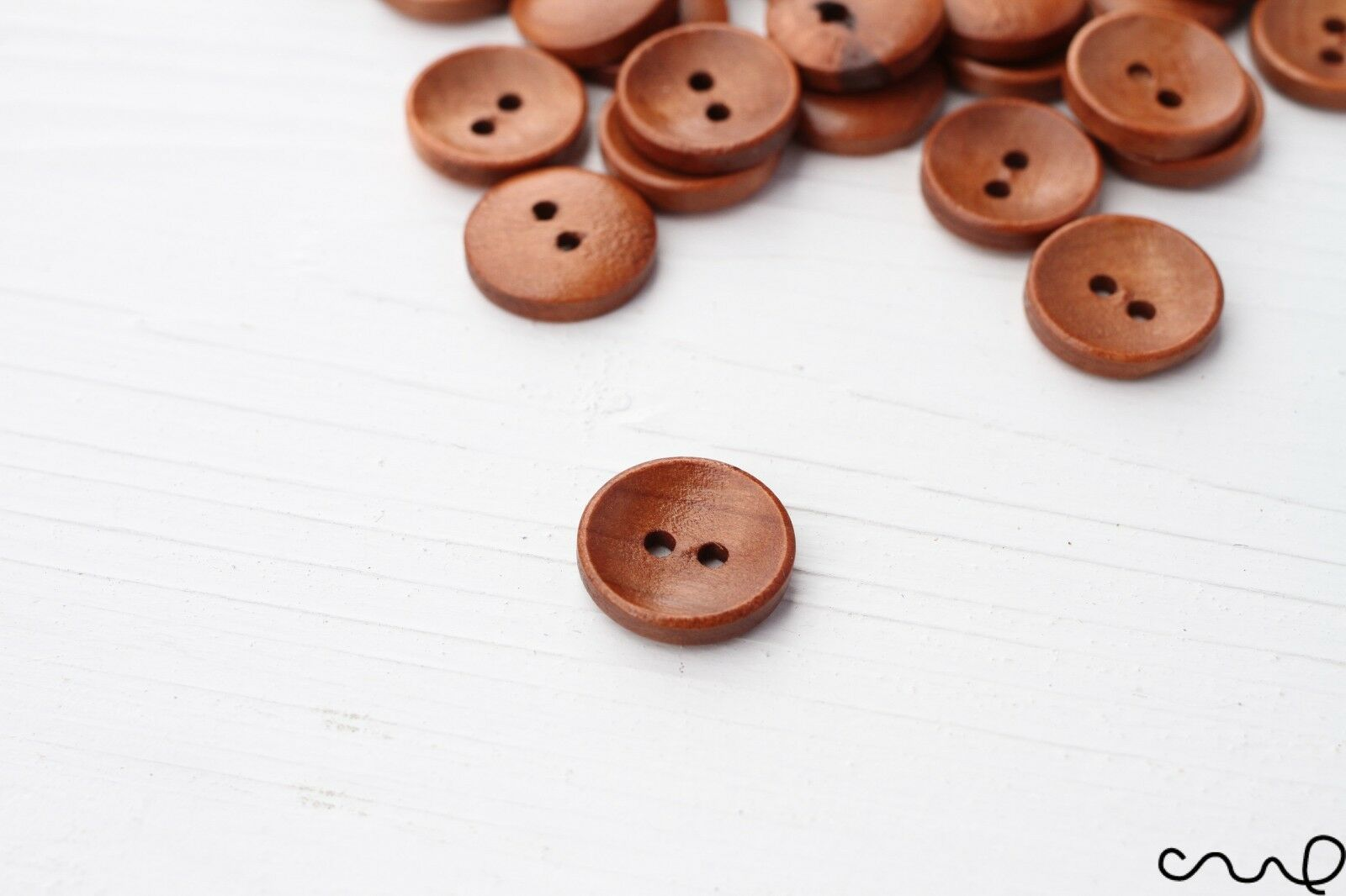 10 pcs Brown TOGGLE Wooden Button Decoration Craft//Kids Sewing 45mmx15mm 2 Holes