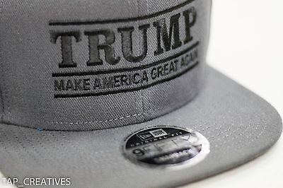 Make America Great Again- Donald Trump Hat 2020-US NEW ERA Snapback Charcoal Cap