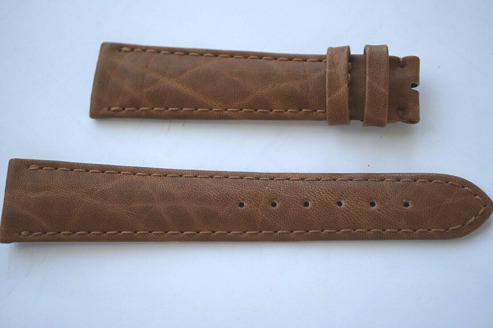 Zenith Uhrenarmband Echt Leder 20 mm Braun