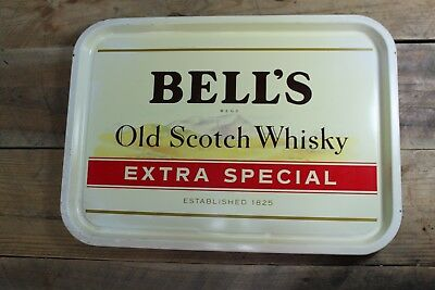 Vintage Bells Old Scotch Whisky Drinks Tray Great Pub Display 30x42cm