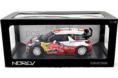 Norev 2011 Citroen DS3 WRC Gewinner Rallye Portogal Red Bull 1/18 Druckguss