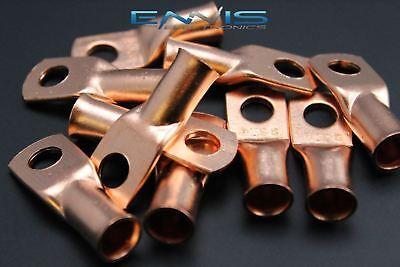 2 Gauge Copper 516 Ring 5 Pk Crimp Terminal Connector Awg Ga Car Eye Cur2516