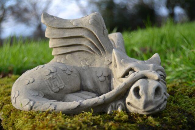 James Dragon Garden Ornament Gargoyle Sculpture Stone Statue Decorative Gift