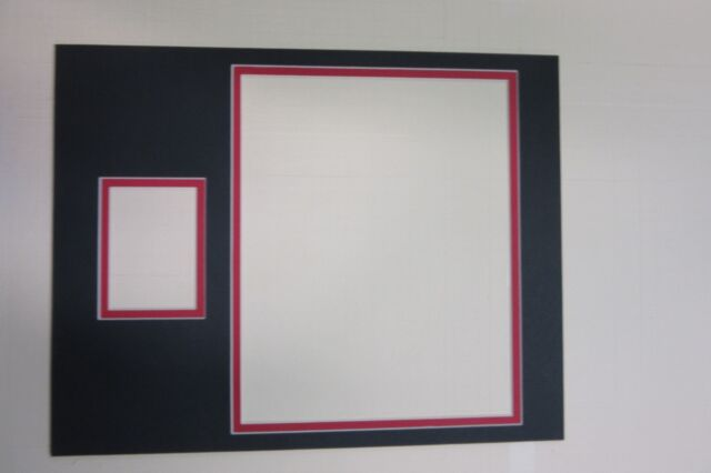 Picture Framing Mat 11x14 for 8x10 Horiz and Sports Card Black With ...