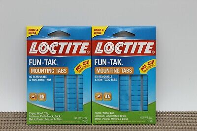 Lot Of 2 New Loctite Fun-tak Mounting Putty Tabs 2-ounce 1865809
