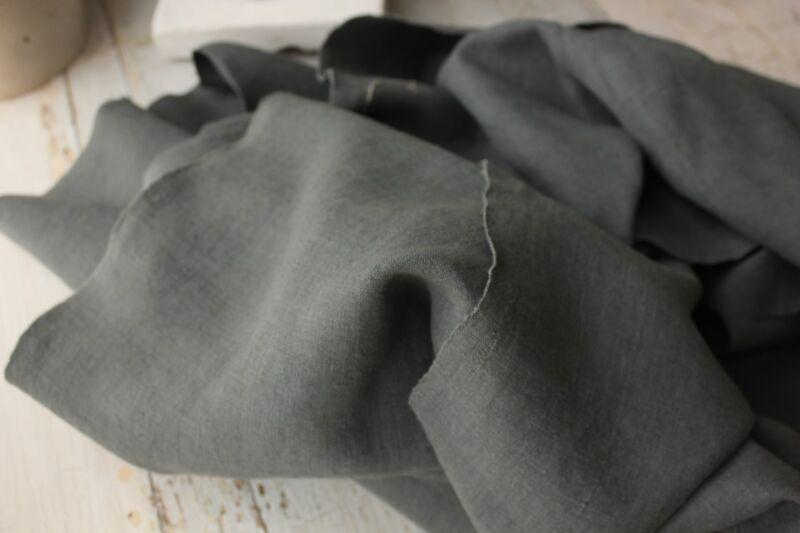 Vintage linen dyed indigo blue 11.7YDS homespun European hemp upholstery fabric