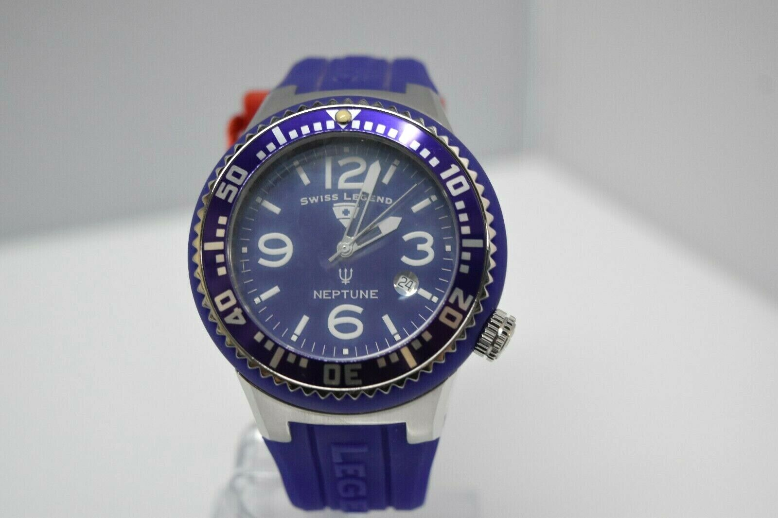 Swiss Legend Swiss Sapphitek 48mm SL-21848P Watch Purple/SS/Purple