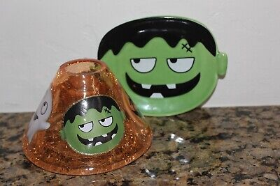Yankee Candle Halloween Friends Shade & Frankie Candle Tray~Halloween~2019~
