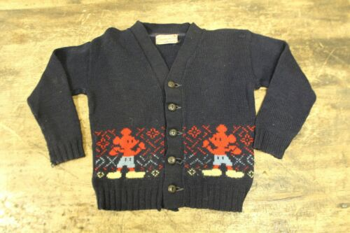 Vintage 1940s Mickey Mouse Kids Knit Character Sweater- Walt Disney by Marinette