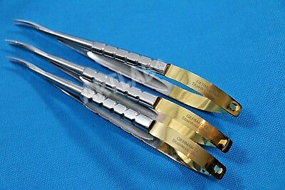 3 German Castroviejo Micro Surgery Scissors 6 Cvd Ophthalmology Dental Surgical