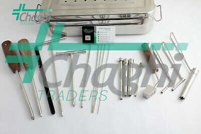 Cannulated 7.3mm 18 Pcs With Box Surgical Medical Orthopedic Instrument Chaghi T