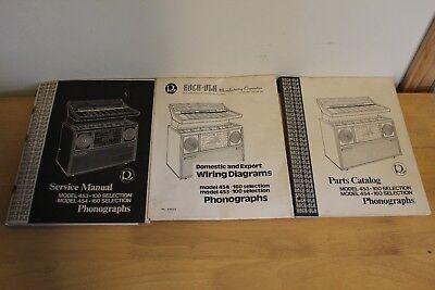 Rockola Model 453 & 454 Selection Wiring Diagrams, Parts Catalog, Service Manual